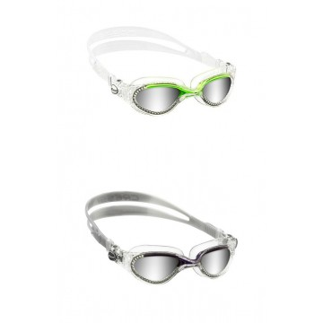 FLASH MIRRORED LENSES SWIMMING GOGGLES