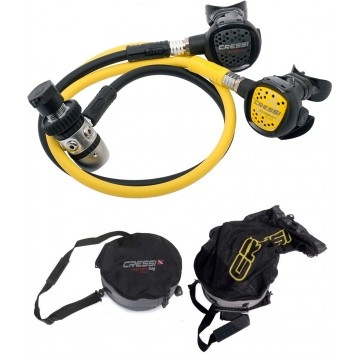 SET XS COMPACT AC2 DIN300 REGULATOR + XS COMPACT OCTOPUS + REGULATOR BAG WITH MESH
