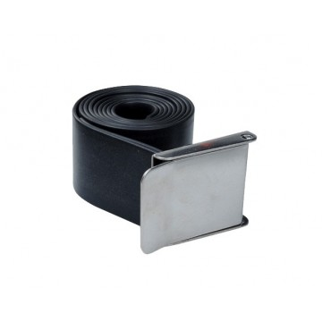 RUBBER BELT WITH STAINLESS BUCKLE