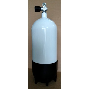 15L 232BAR FABER CYLINDER WITH PLASTIC BOOT AND 1 OUTLET VALVE